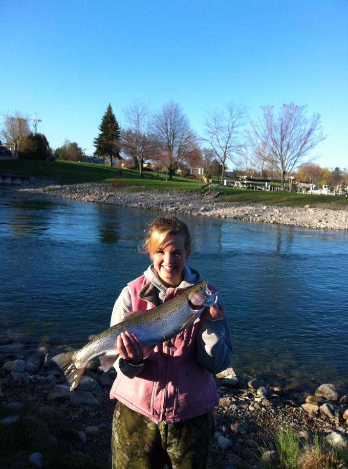 Jessica mack steelhead addiction michigan fishing report for Mi fishing report