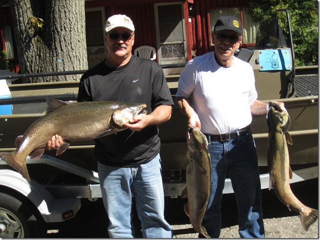 Northern michigan fishing report for 9 27 13 michigan for What fish are biting this time of year