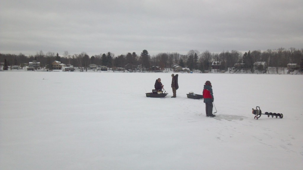 Brutal cold weather slows ice fishing michigan fishing for Ice fishing report