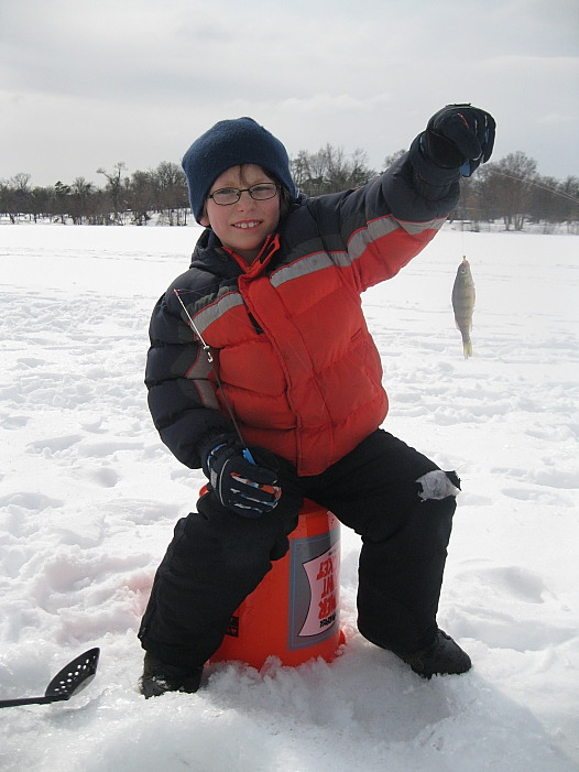 The tired of ice fishing fishing report michigan for Hesperia lake fishing report
