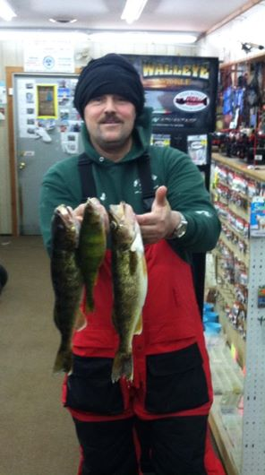 Dave L. caught some nice Walleyes & a big Perch