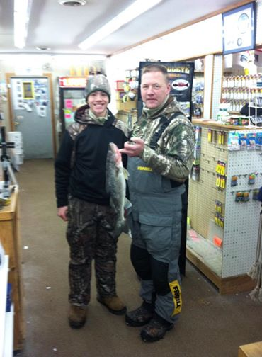 "Byron and Reece S. brought in this nice 22"", 3+ lb Walleye"