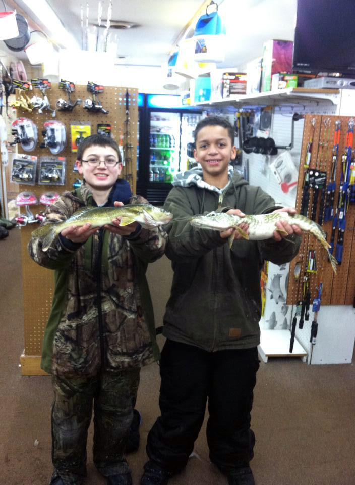 Dontay G. and Mathew B. from Mt Pleasant did it again with a pike and walleye