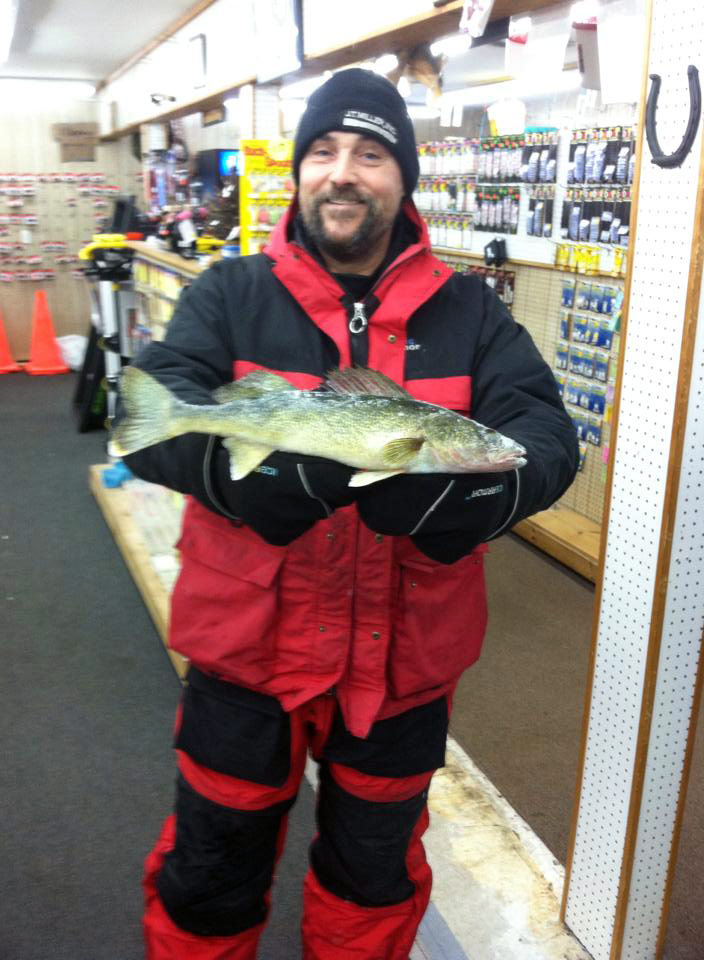 "Dave brought in a 17"" Eye tonight (and a few nice Perch) from Houghton Lake"