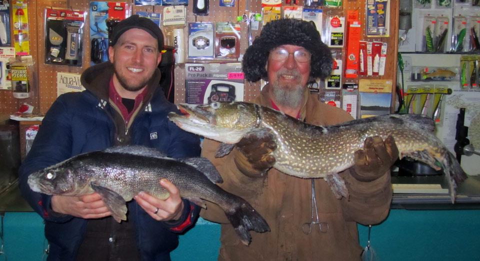 Luke and Ray Nixon had a good day fishing Lake Mitchell