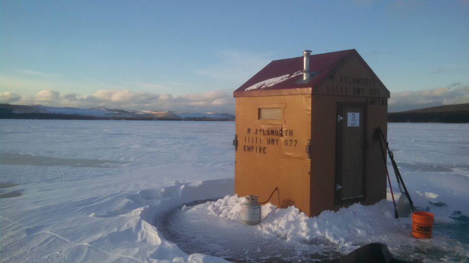 Empire outdoors perch ice fishing tournament march 7th for Ice fishing shanty