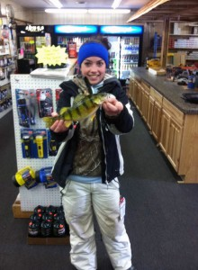 Nice Perch! Haley Pifer from McBain brought in a nice 12""