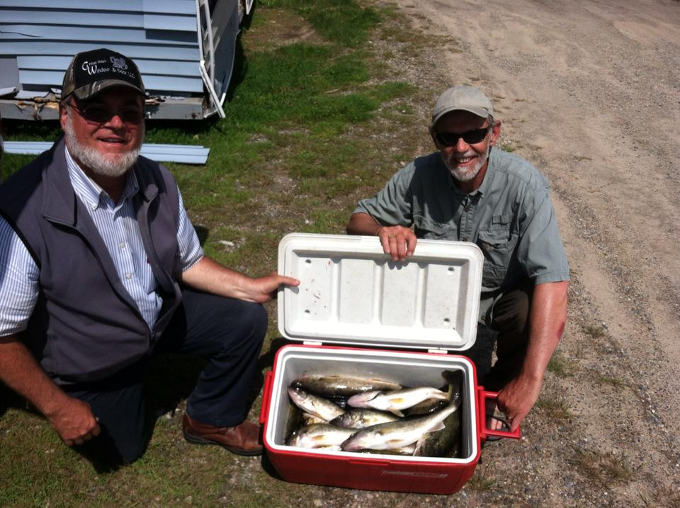 Chip and his student Henry brought in a cooler full of fish...8 Walleyes