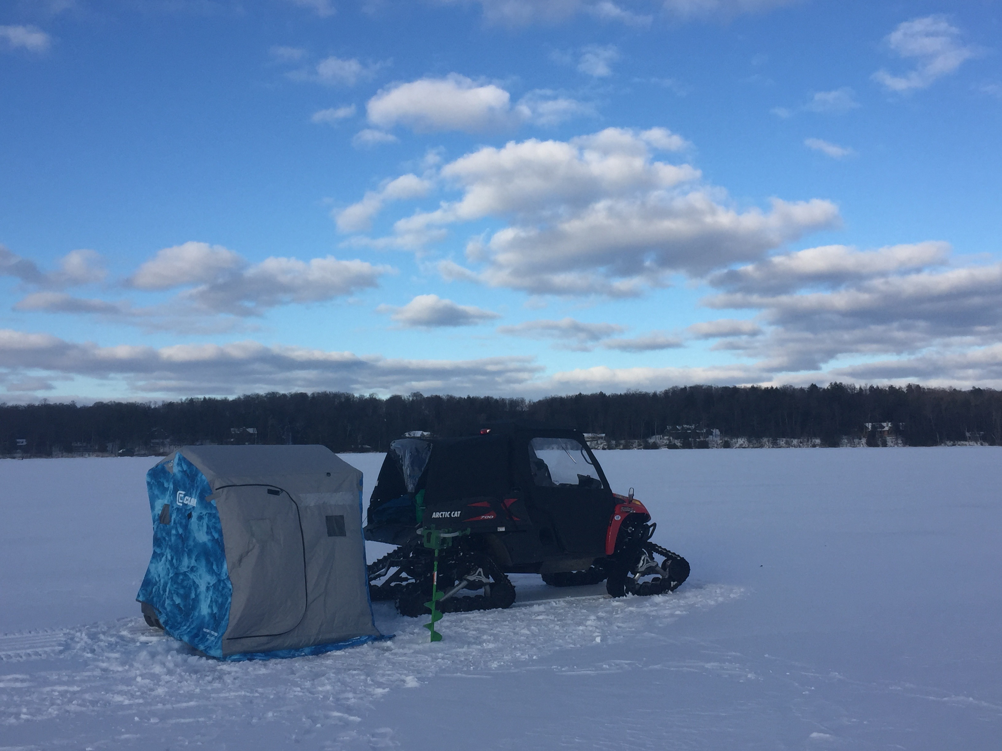 long lake by traverse city with curly's rig