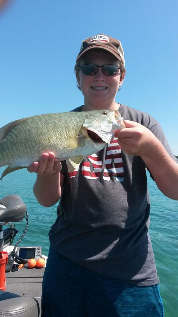 smallmouth caught by this happy young man