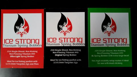 Buc's bait will be distributing ice strong titanium spring bobber